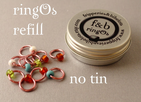 ringOs REFILL ~ Cherry Blossom ~ Snag Free Ring Stitch Markers for Knitting