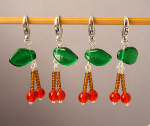 Cherry Bomb Stitch Markers for Crochet