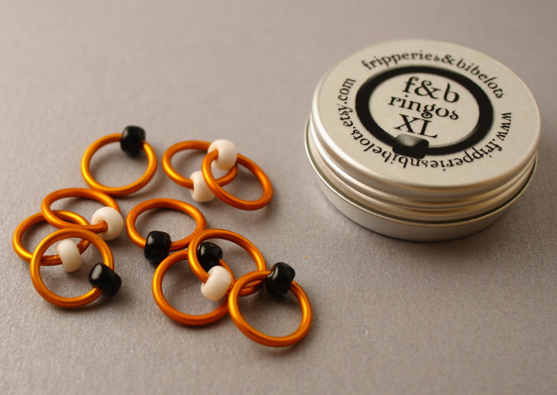 ringOs XL Clown Fish - Snag-Free Ring Stitch Markers for Knitting