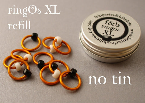 ringOs XL REFILL - Clown Fish - Snag-Free Ring Stitch Markers for Knitting
