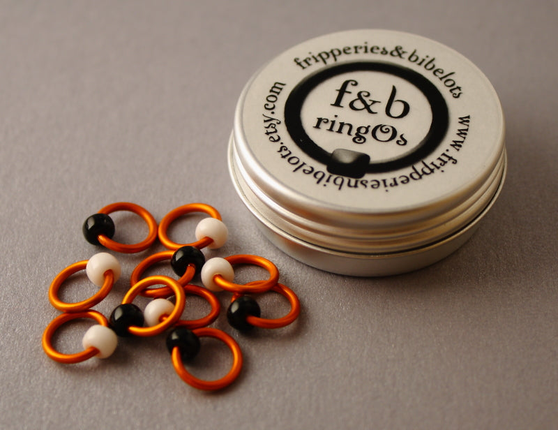 ringOs Clown Fish ~ Snag Free Ring Stitch Markers for Knitting