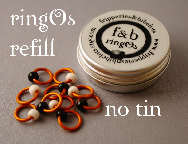 ringOs REFILL ~ Clown Fish ~ Snag Free Ring Stitch Markers for Knitting