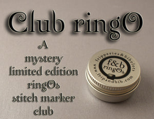 Club ringO v33 ~ Limited Edition Mystery Snag-Free Ring Stitch Marker Club