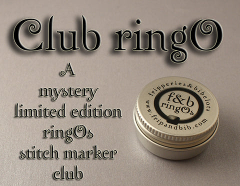 Club ringO v40 ~ Limited Edition Mystery Snag-Free Ring Stitch Marker Club