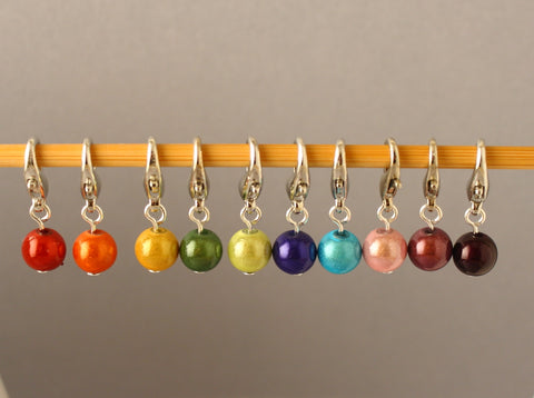Colourful Bubbles Stitch Markers for Crochet