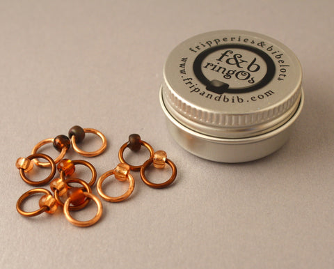 ringOs Copper Penny ~ LIMITED EDITION ~ Snag Free Ring Stitch Markers for Knitting