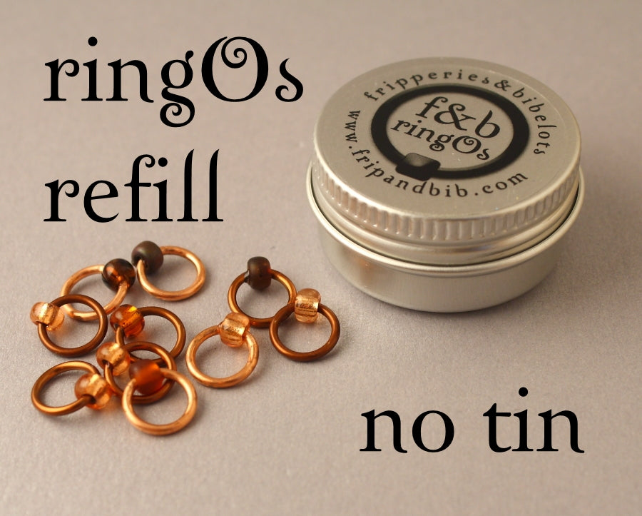 ringOs REFILL ~ Copper Penny LIMITED EDITION ~ Snag Free Ring Stitch Markers for Knitting