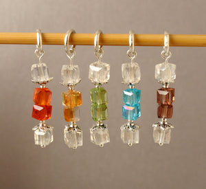 Crystal Christmas Cracker Stitch Markers for Knitting