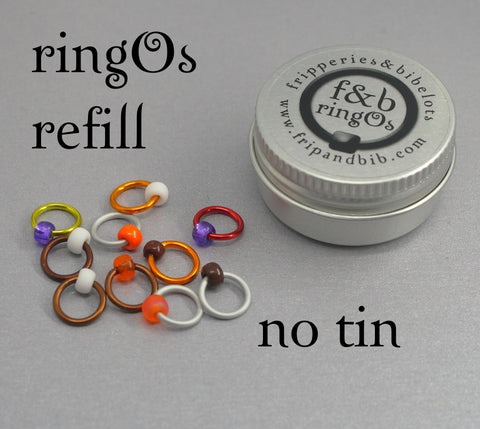 ringOs REFILL ~ Creme Egg ~ LIMITED EDITION Snag Free Ring Stitch Markers for Knitting