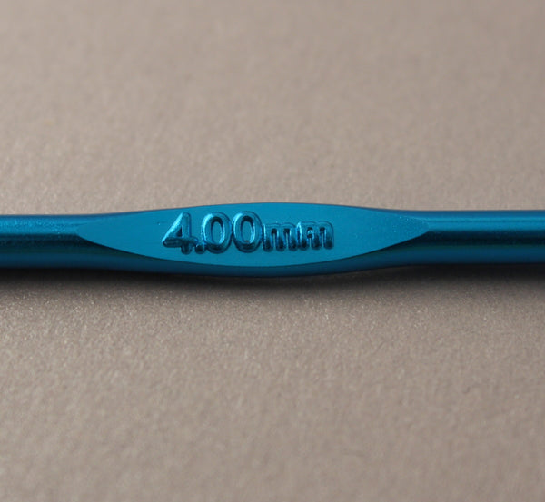 Anodised Aluminium Crochet Hook ~ 4mm/US G-6
