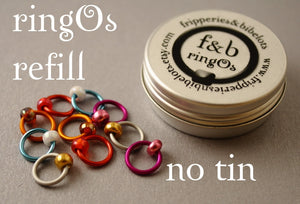 ringOs REFILL ~ Curiouser ~ Snag Free Ring Stitch Markers for Knitting