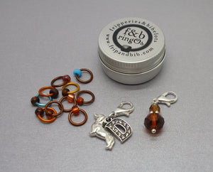 ringOs Happy Birthday Dave! ~ SUMMER Limited Edition Snag Free Ring Stitch Markers for Knitting