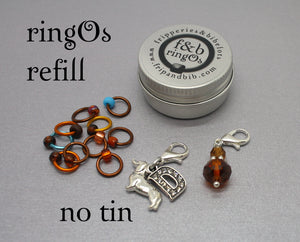 ringOs REFILL ~ Happy Birthday Dave! ~ SUMMER Limited Edition Snag Free Ring Stitch Markers for Knitting