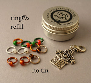 Christmas ringOs REFILL ~ Dear Santa ~ Limited Edition Snag Free Ring Stitch Markers for Knitting