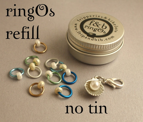 ringOs REFILL ~ Diving for Pearls ~ SUMMER LIMITED EDITION ~ Snag Free Ring Stitch Markers for Knitting