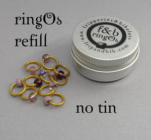 ringOs REFILL ~ Dusky Sunset ~ Snag Free Ring Stitch Markers for Knitting