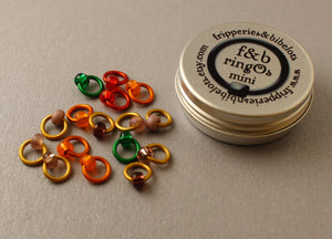 ringOs Mini Dusky Sunset - Snag-Free Ring Stitch Markers for Sock Knitting
