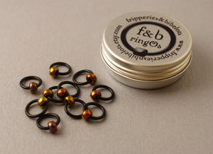 ringOs Embers ~ Snag Free Ring Stitch Markers for Knitting