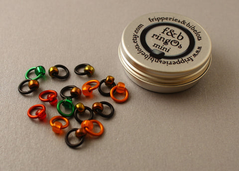 ringOs Mini Embers - Snag-Free Ring Stitch Markers for Sock Knitting