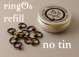 ringOs REFILL ~ Embers ~ Snag Free Ring Stitch Markers for Knitting
