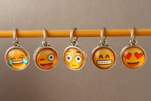 Emoji Stitch Markers for Knitting
