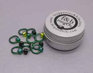 ringOs Evergreen ~ Snag Free Ring Stitch Markers for Knitting