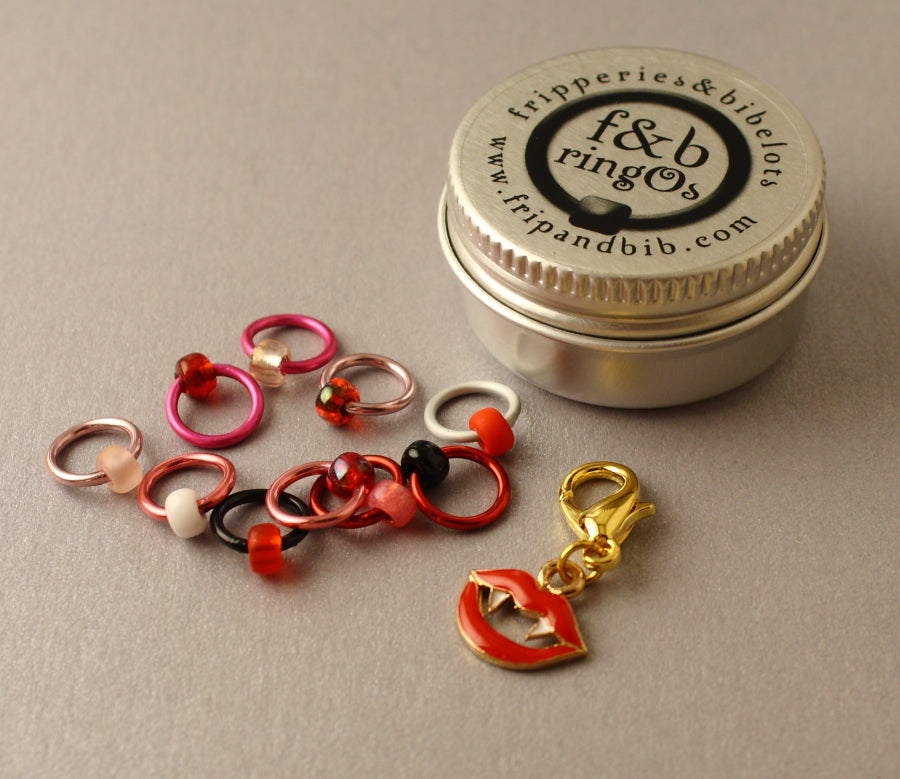 ringOs Fangtastic! ~ LIMITED EDITION ~ Snag Free Ring Stitch Markers for Knitting