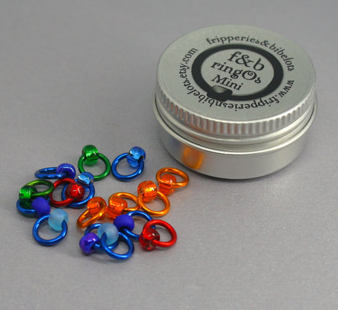 ringOs Mini Favourite Jeans - Snag-Free Ring Stitch Markers for Sock Knitting