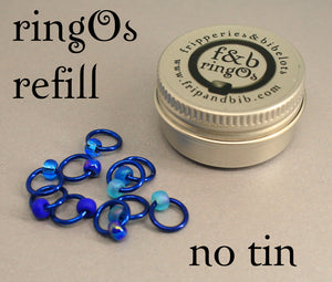 ringOs REFILL ~ Favourite Jeans ~ Snag Free Ring Stitch Markers for Knitting