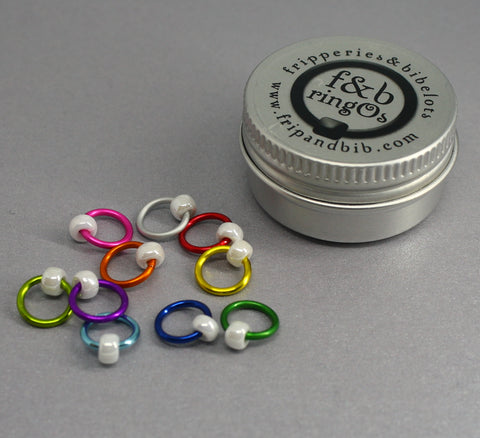 ringOs Fiesta ~ Snag Free Ring Stitch Markers for Knitting