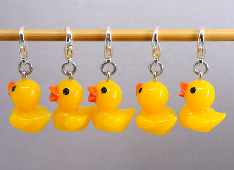 Five Little Ducks Stitch Markers for Crochet
