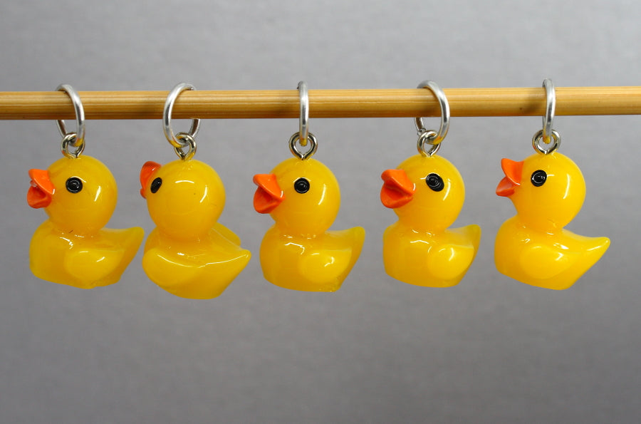 Five Little Ducks Stitch Markers for Knitting