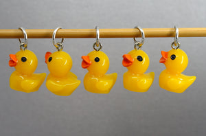 Five Little Ducks Stitch Markers for Knitting and Crochet