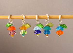Fabulous Fuchsias Stitch Markers for Knitting