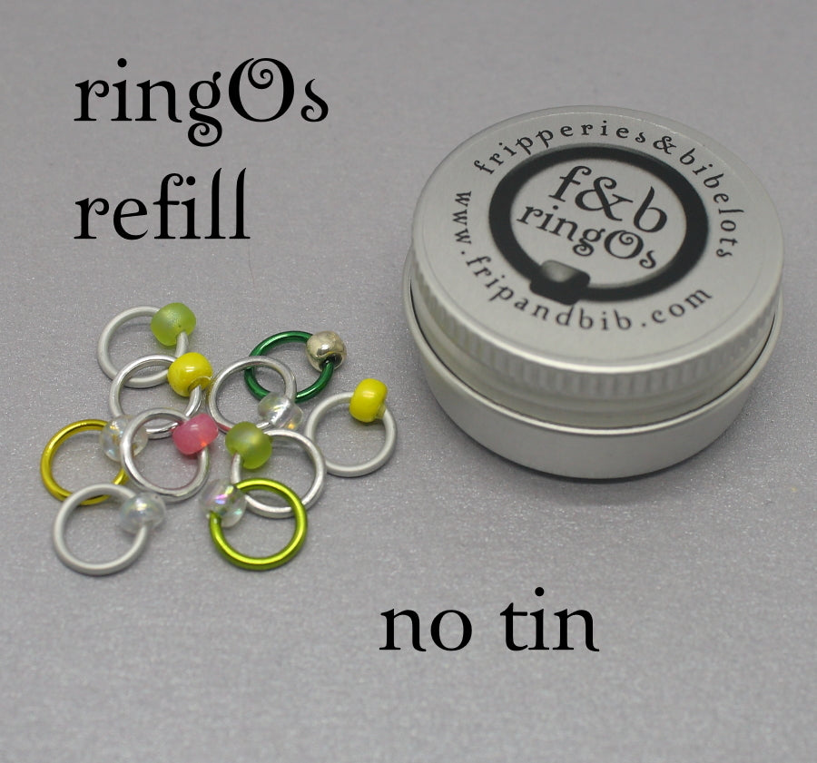 ringOs REFILL ~ G & T ~ Snag Free Ring Stitch Markers for Knitting