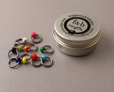 ringOs Graffiti ~ Snag Free Ring Stitch Markers for Knitting