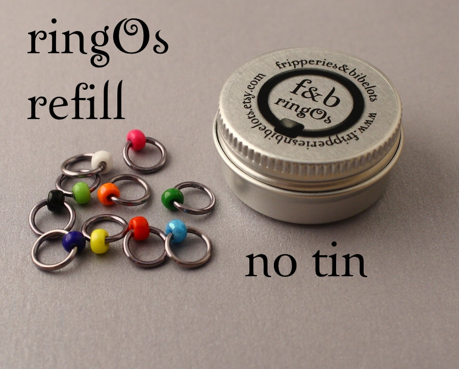 ringOs REFILL ~ Graffiti ~ Snag Free Ring Stitch Markers for Knitting