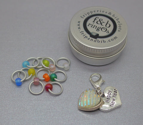 ringOs Happy 2021! ~ New Year Limited Edition Snag Free Ring Stitch Markers for Knitting