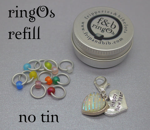 ringOs REFILL ~ Happy 2021! ~ New Year Limited Edition Snag Free Ring Stitch Markers for Knitting