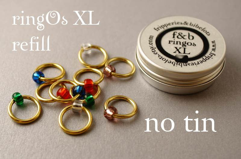 ringOs XL REFILL - Jewellery Box - Snag-Free Ring Stitch Markers for Knitting