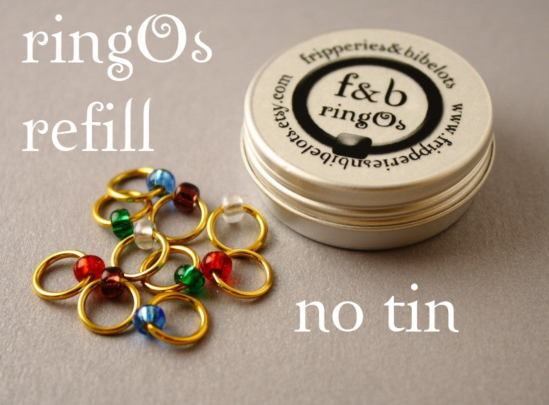 ringOs REFILL ~ Jewellery Box ~ Snag Free Ring Stitch Markers for Knitting