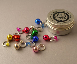 Christmas ringOs JingOs ~ Limited Edition Snag Free Ring Stitch Markers for Knitting
