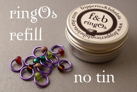 ringOs REFILL ~ Lavender Garden ~ Snag Free Ring Stitch Markers for Knitting