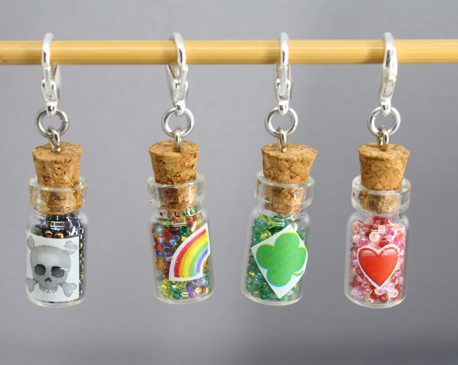Little Potion Bottles Stitch Markers for Crochet HALLOWEEN LIMITED EDITION