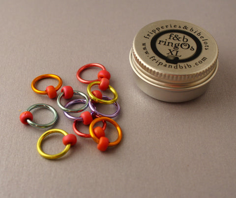 ringOs XL Love Hearts - Snag-Free Ring Stitch Markers for Knitting