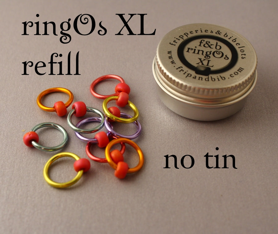ringOs XL REFILL - Love Hearts - Snag-Free Ring Stitch Markers for Knitting