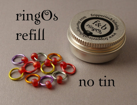 ringOs REFILL ~ Love Hearts ~ Snag Free Ring Stitch Markers for Knitting