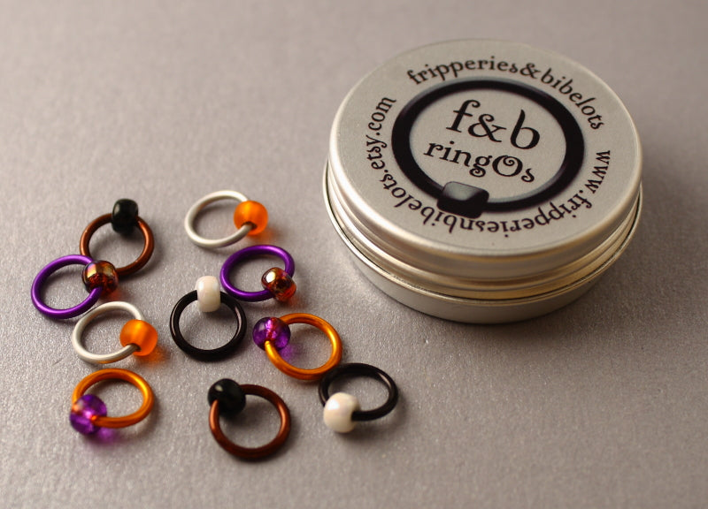 ringOs Mandarin Duck ~ Snag Free Ring Stitch Markers for Knitting