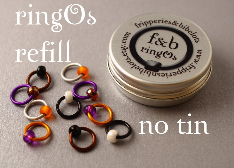 ringOs REFILL ~ Mandarin Duck ~ Snag Free Ring Stitch Markers for Knitting