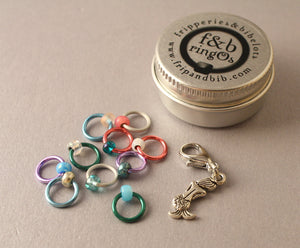 ringOs Mermaid  ~ LIMITED EDITION ~ Snag Free Ring Stitch Markers for Knitting